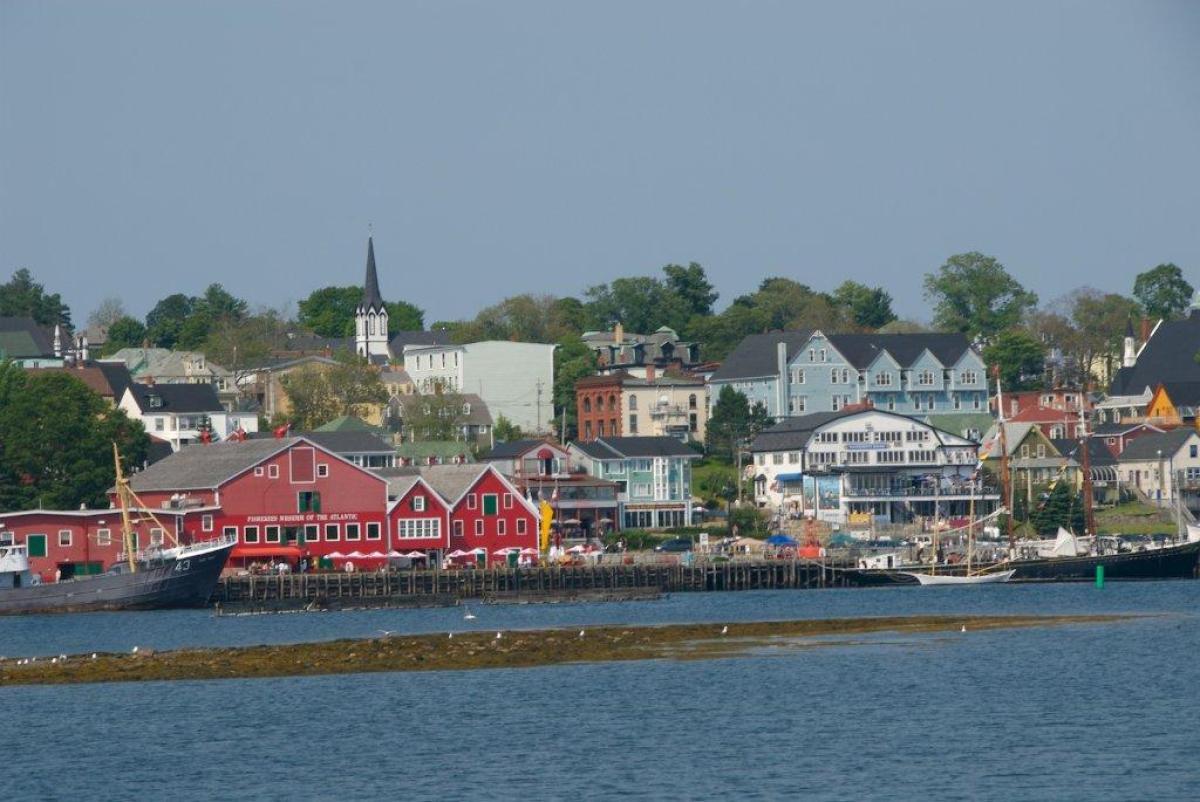 Picturesque Lunenberg, Nova Scotia, is a UNESCO World Heritage Site.