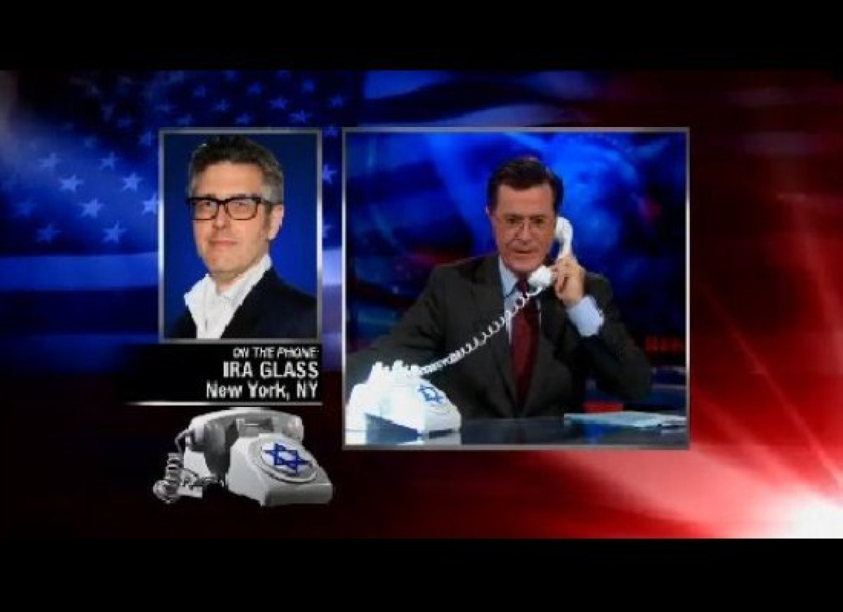 """How Ira Glass has wronged Stephen Colbert by never having him on <em>This American Life</em>, in two acts. [<a href=""""http://g"""