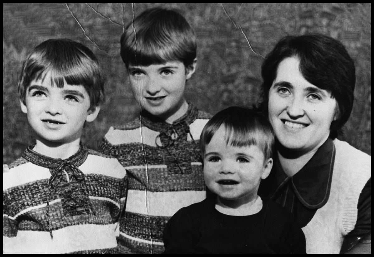 381296 02: Family portrait of the Gallagher family in the mid 1970's from left to right Noel, Paul, Liam and Mum Peggy Gallag