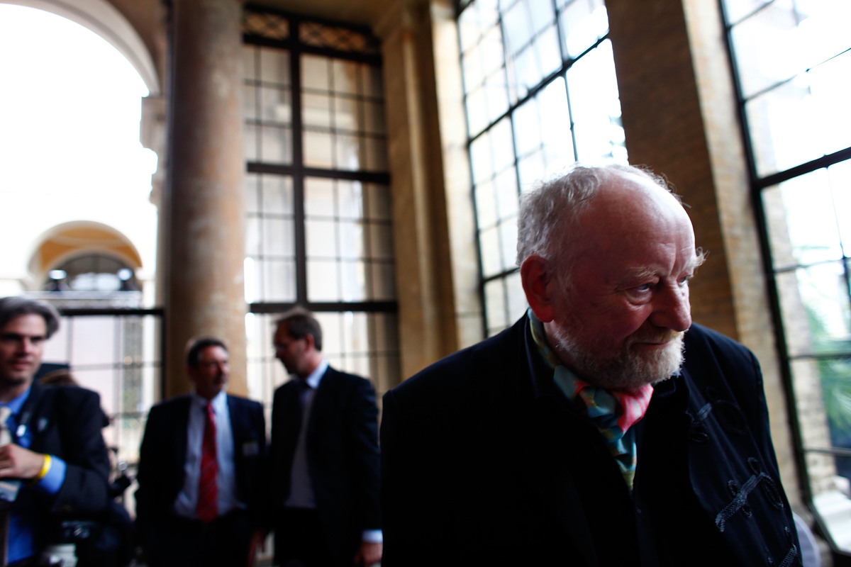 Kurt Westergaard arrives for the M110 Media Award ceremony at Sanssouci Palace on September 8, 2010, in Potsdam, Germany. (Ph