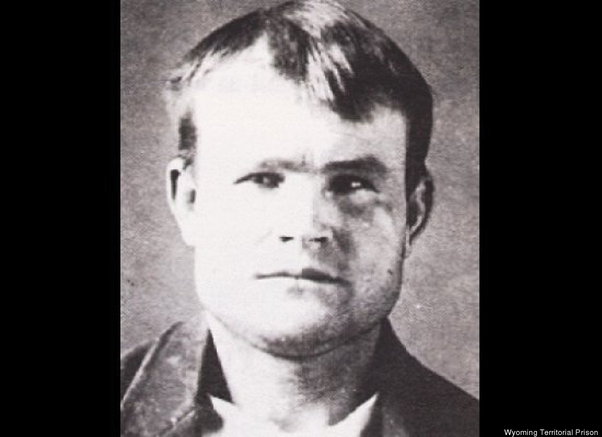 Butch Cassidy's mugshot from the Wyoming Territorial Prison in 1894.