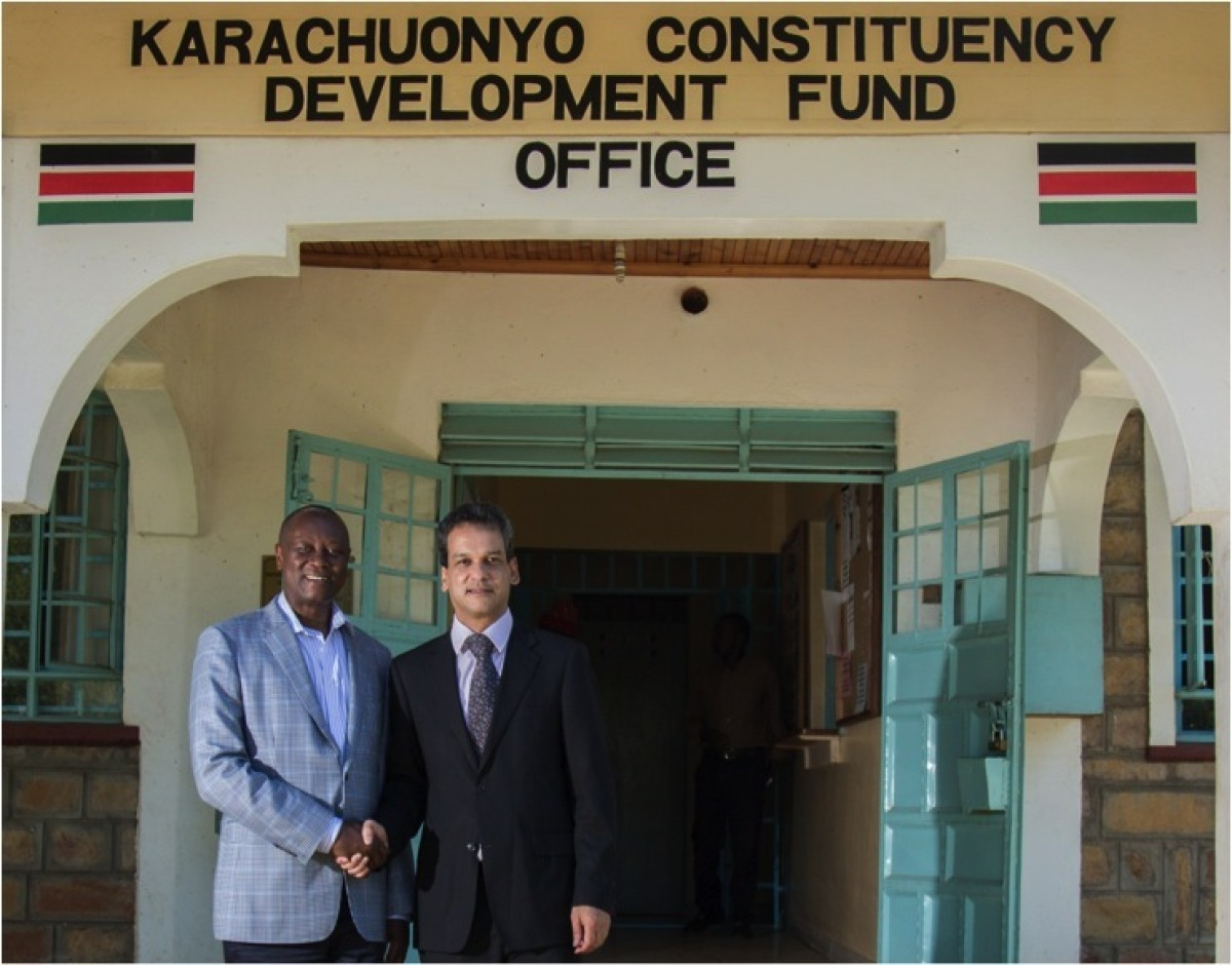 The Honourable James Rege, Member of Parliament of Karachuonyo Constituency, meets with Anthony Voness, former general mana
