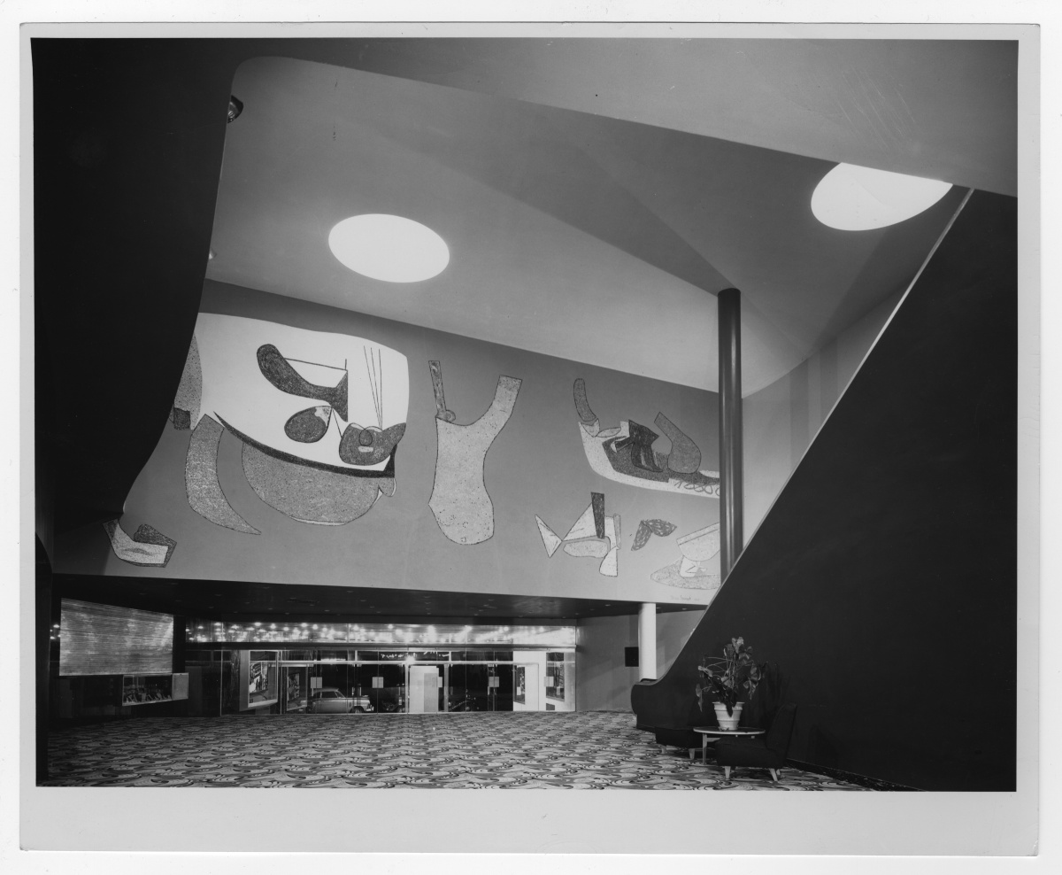 pg. 185 Top, Calderone Theatre, Hempstead, 1945-49 Credit: William Lescaze Papers  Reprinted from Long Island Modernism: 1