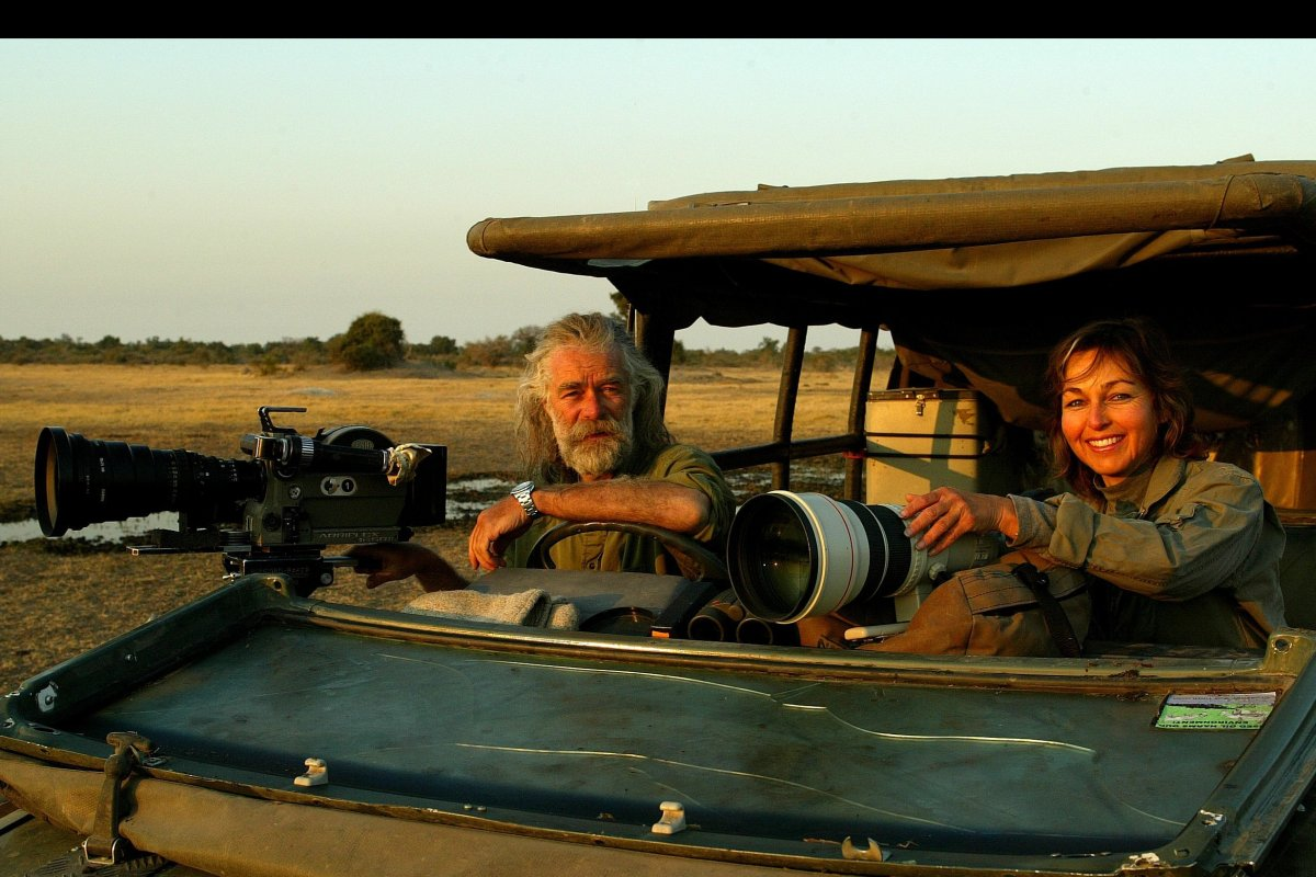 The Last Lions filmmakers Beverly and Dereck Joubert  Photo: © Great Plains Conservation
