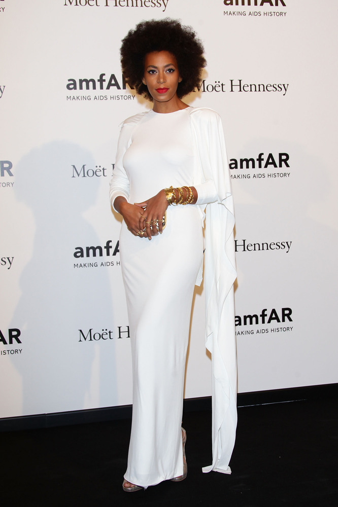 MILAN, ITALY - SEPTEMBER 22:  Solange Knowles   attends amfAR Milano 2012 during Milan Fashion Week at La Permanente on Septe