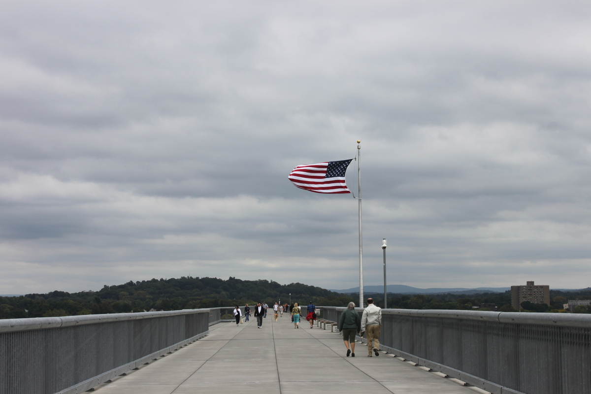 The Walkway Over The Hudson, looking towards Poughkeepsie.