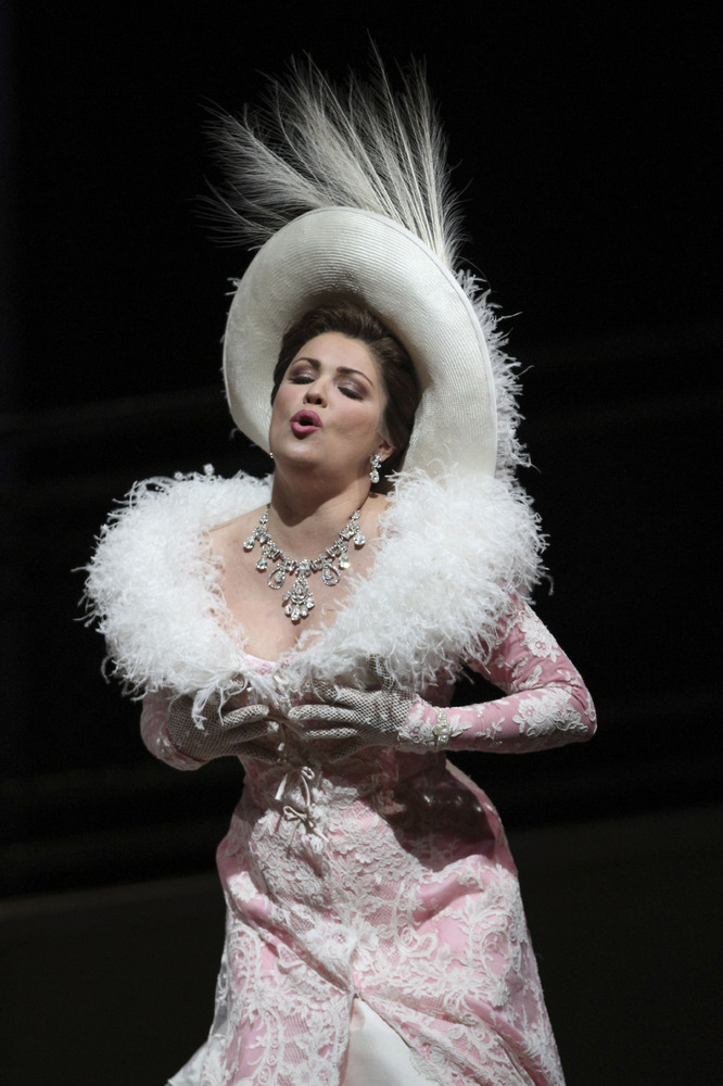 In this Friday, March 23, 2012 photo, Anna Netrebko performs the title role during the final dress rehearsal of Jules Massene