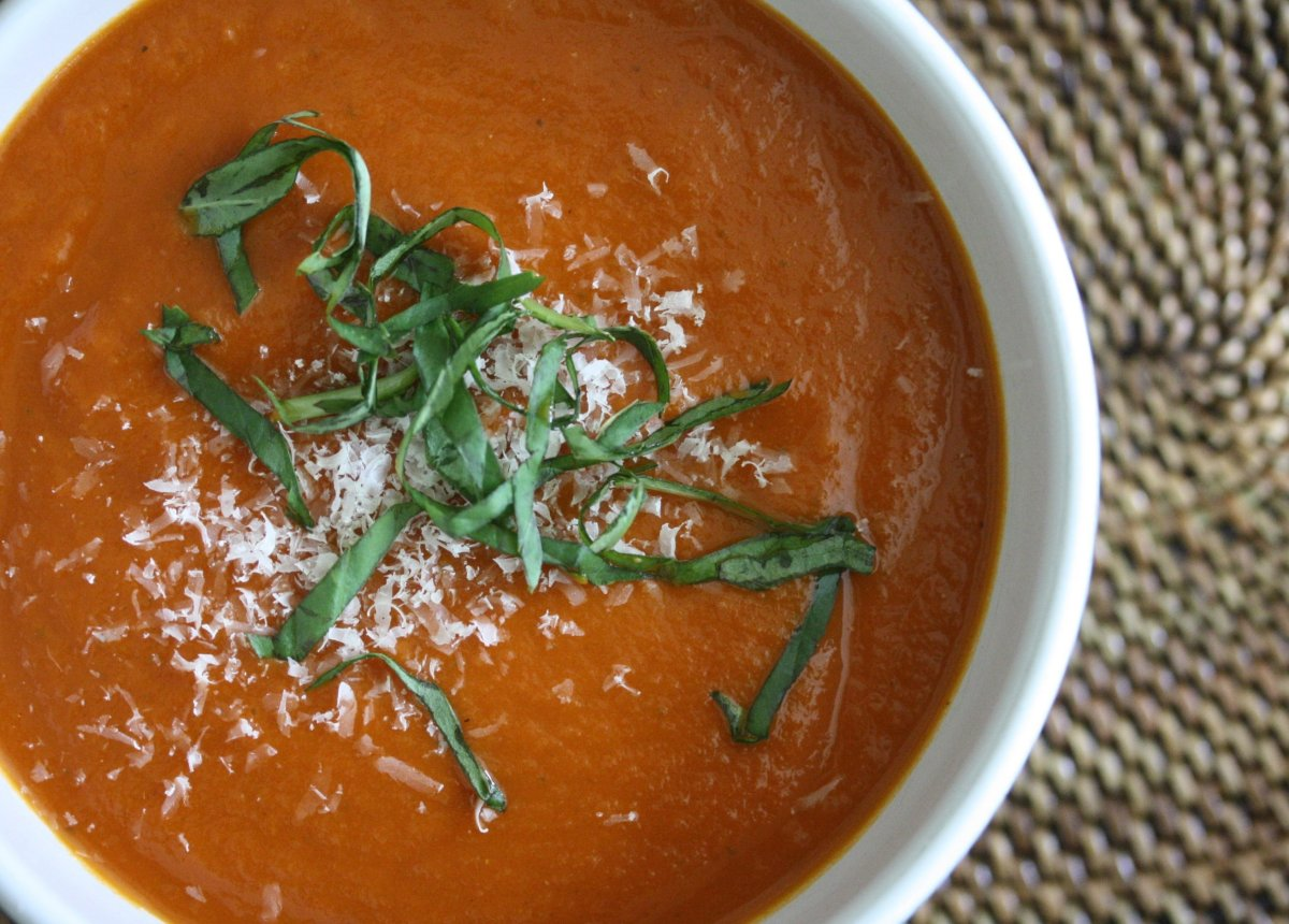"""My comfort memories date back to childhood, and nothing is more evocative than tomato soup and <a href=""""http://feedmephoebe.c"""