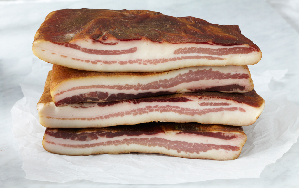 "Feast your eyes on the unctuous goodness that is <a href=""http://laquercia.us/cuts_belly_pancetta_and_bacon_tamworth_country_"