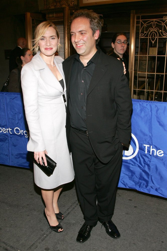 Before: The Oscar-winning actress was conservative and demure when married to director Sam Mendes.