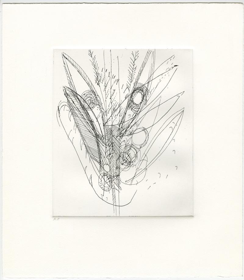 Mark Grotjahn Untitled (TBD 43.75), 2012 etching 13 11/16 x 12 in. (34.8 x 30.5 cm.) AP Courtesy of Mark Grotjahn Photo court