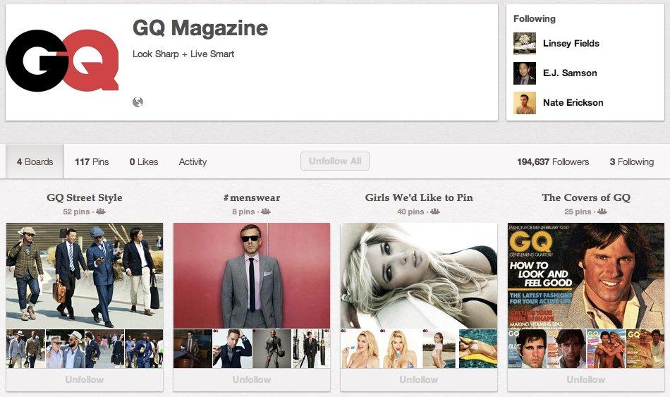 """<a href=""""http://pinterest.com/gqmagazine/following/"""">GQ Magazine</a>"""