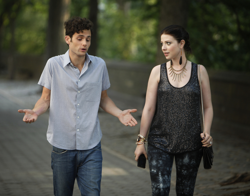 Pictured (L-R): Penn Badgley as Dan Humphrey and Michelle Trachtenberg as Georgina Sparks.