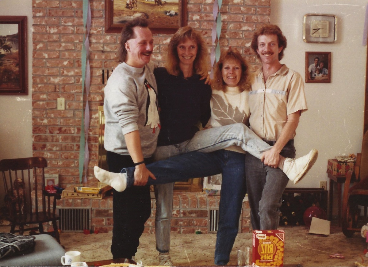 The original Kinsella family photo was shot in 1989. The four adult siblings take one every time they get together -- always
