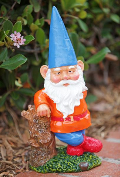 """(<a href=""""http://www.gardenfun.com/garden-lawn-gnome-blue.html"""">Garden Fun</a>, $24)"""