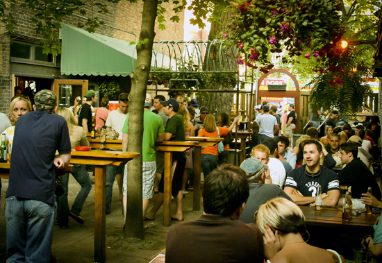 This popular Lakeview garden concentrates on the beer, offering a strong selection of American craft brews and a number of sp