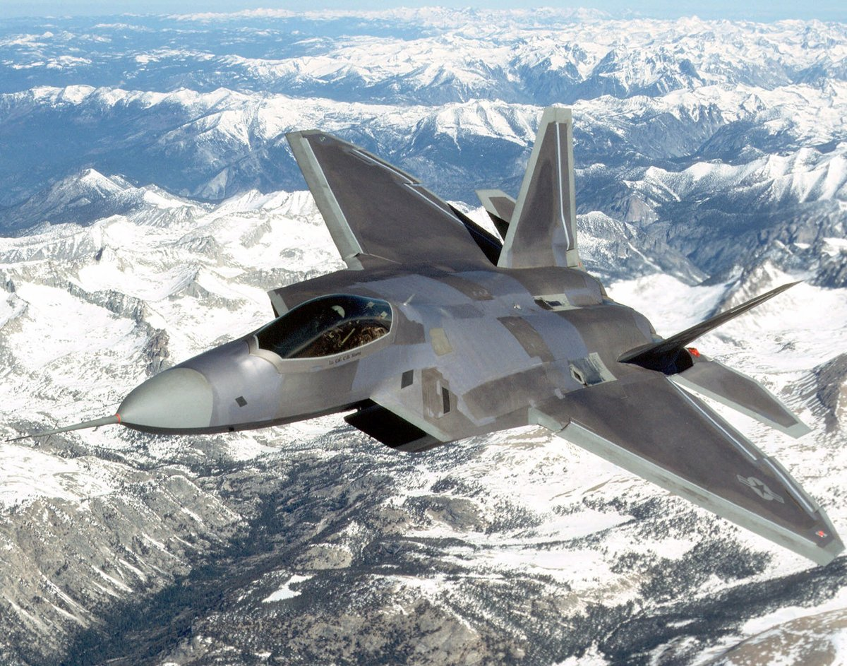 An F-22 Raptor flies near Edwards Air Force Base in Calif., in this undated handout photo provided by Lockheed Martin.  (AP P