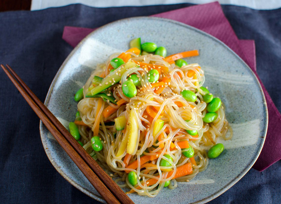 """<strong>Get the <a href=""""http://merci-mama.com/girls-do-i-have-a-recipe-for-you/"""">Sukiyaki with Shirataki Noodles recipe from"""