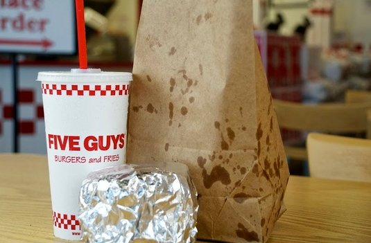 """1. Five Guys 2. Wendy's 3. Burger King 4. In-N-Out Burger 5. Fuddruckers  Related: <a href=""""http://blog.zagat.com/2012/09/6-w"""