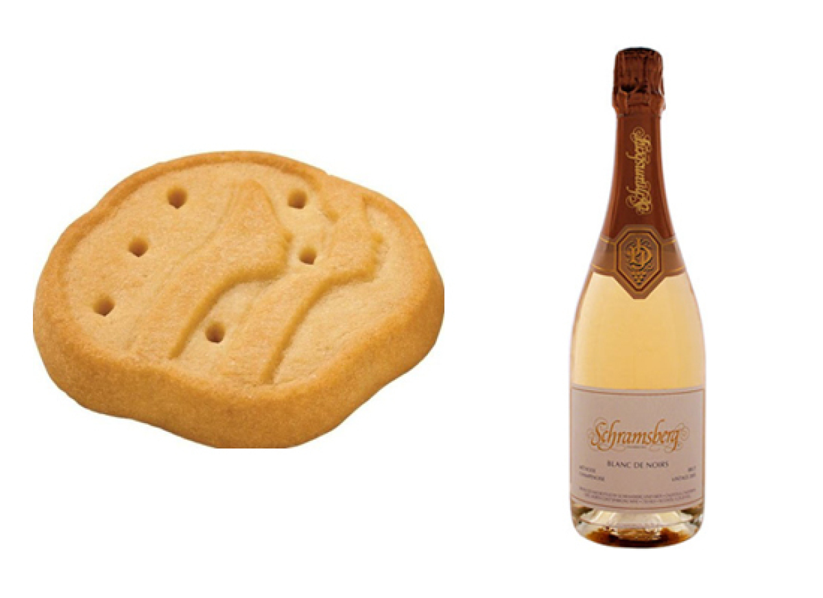 """<a href=""""http://www.schramsberg.com/wines/blancdenoirs.html"""" target=""""_hplink"""">2007 Schramsberg Blanc de Noirs Sparkling Wine."""