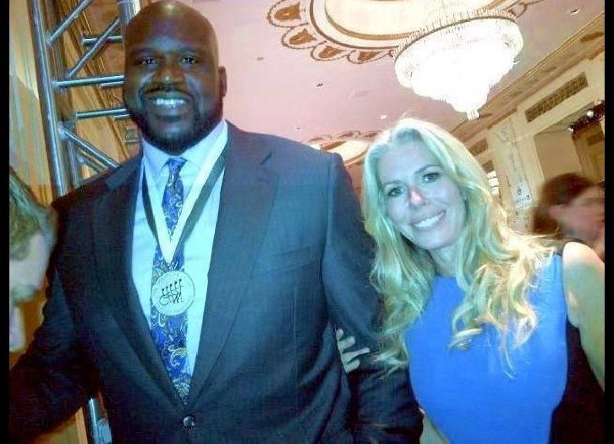 Shaquille O'Neal and Real Housewife of NYC Aviva Drescher attend the 27th annual Buoniconti Sports Legends Dinner in NYC.