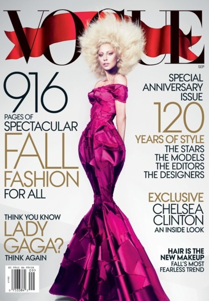 """The September issue of Vogue showed the """"Born this Way"""" singer with a figure that she certainly wasn't born with. Looking eer"""