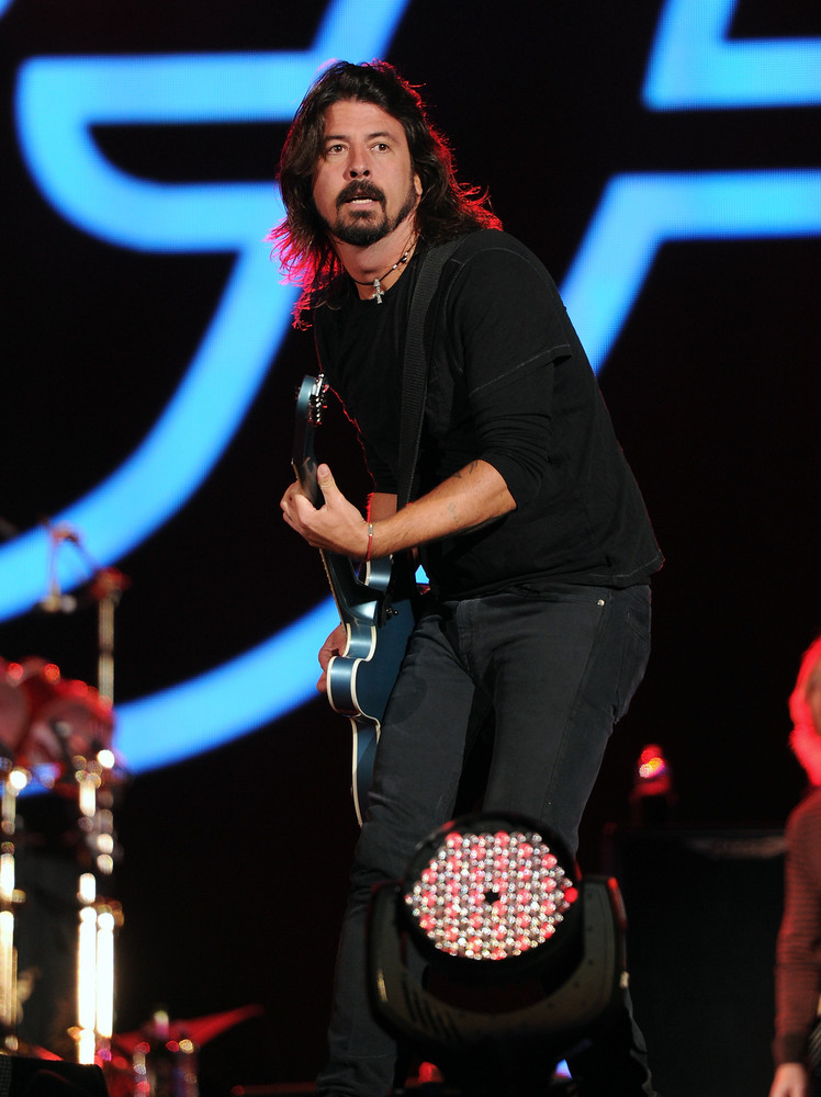 Musician Dave Grohl and the Foo Fighters perform at the Global Citizen Festival in Central Park on Saturday Sept. 29, 2012 in