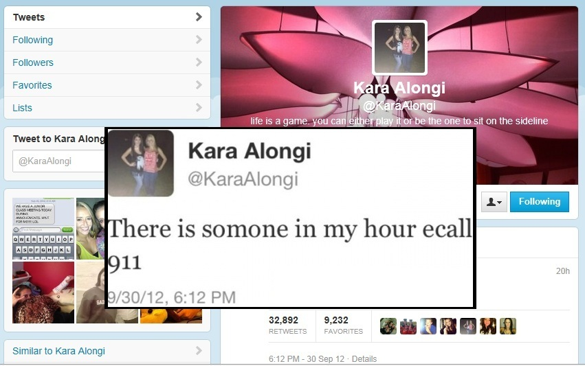 "Kara Alongi, 16, a junior at Arthur L. Johnson High School, was last heard from Sunday evening when she tweeted ""There is som"