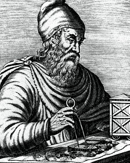 Archimedes lived during the 3rd century BC. This 17th-century French engraving imagined Archimedes' appearance two millennia
