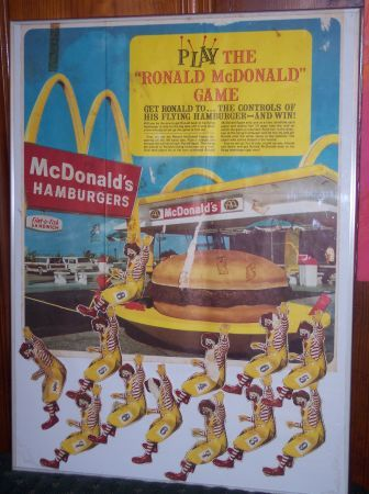 """Every birthday party needs a solid game of """"Pin The Ronald On His Burger Ship,"""" right? Maybe the winner will get a free Big M"""