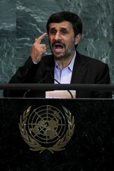 """Whoever talks of war against Iran <a href=""http://www.huffingtonpost.com/2012/10/02/ahmadinejad-netanyahu-un-bomb-prop_n_193"