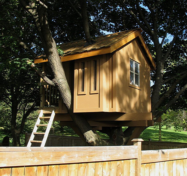 "Is this a tree house or a real house? It looks like the perfect space to read comic books.   (Flickr photo by <a href=""http:/"