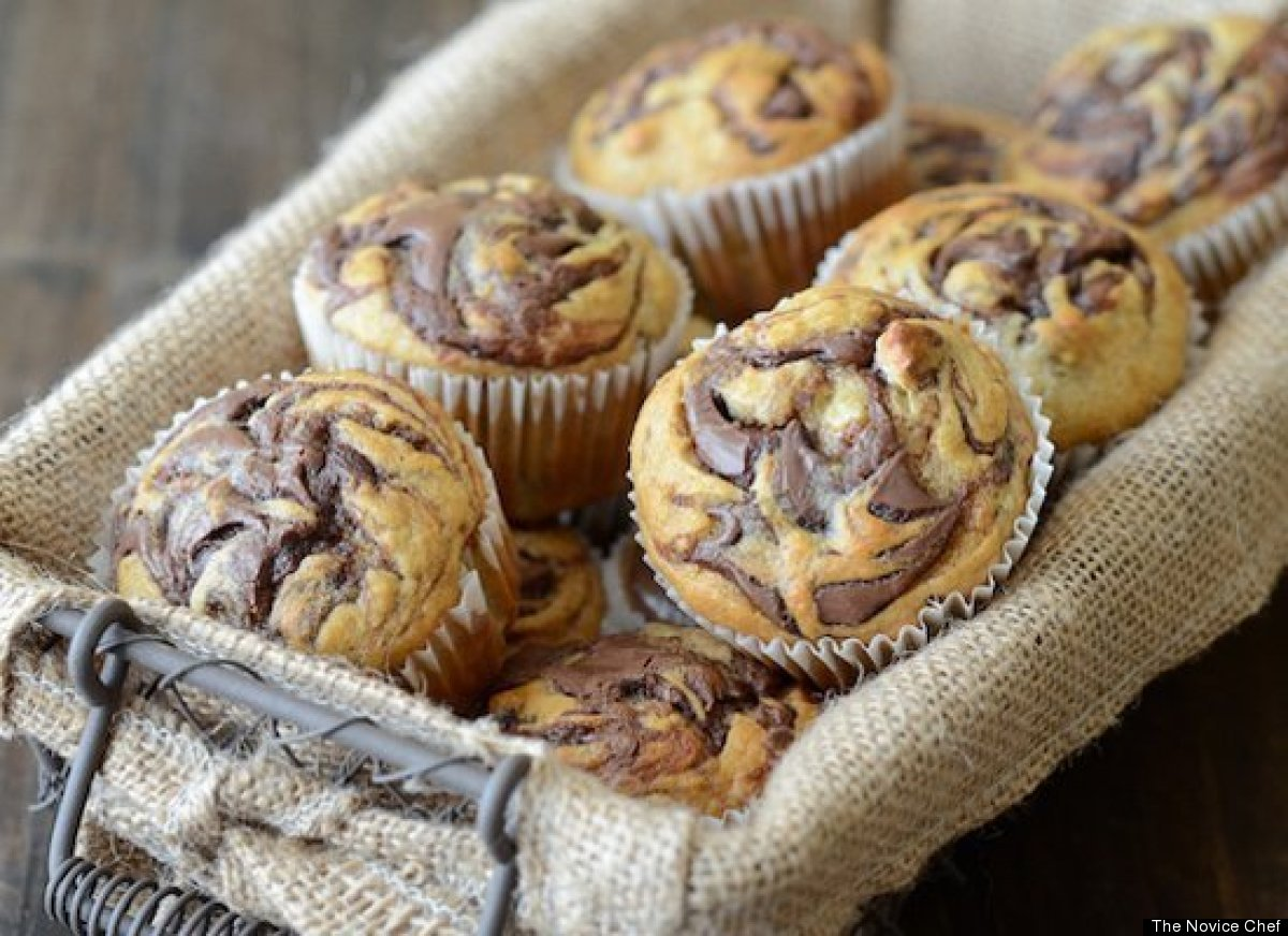 "<strong>Get the <a href=""http://www.thenovicechefblog.com/2013/01/nutella-banana-swirl-muffins/"" target=""_hplink"">Nutella Ban"