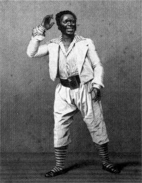 "Lewis Hallam, Jr. brought blackface to prominence as a theatrical device in the United States when he played the role of ""Mun"