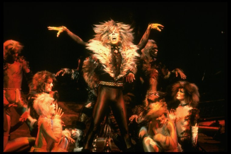 """An image from the original 1982 production of """"Cats"""" at the Winter Garden Theater on Broadway."""