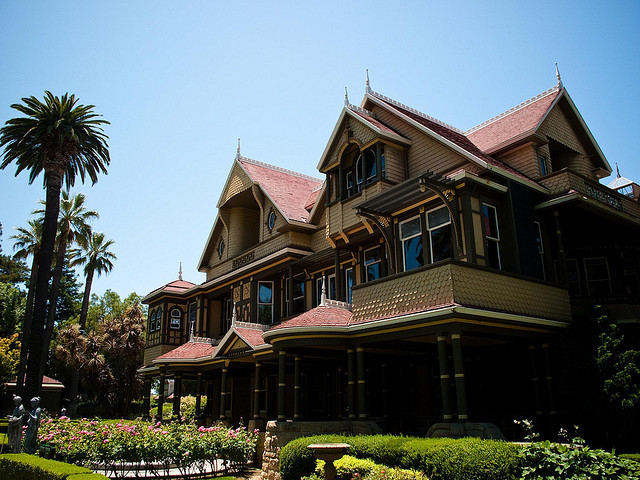 """Often called the """"most haunted house in the world,"""" San Jose's Winchester Mystery House was constructed by Sarah Winchester,"""