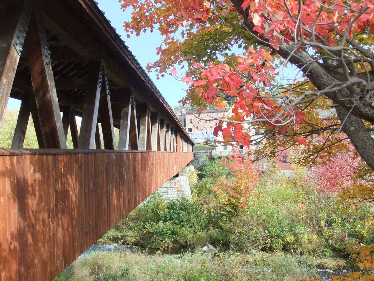 Though it isn't old, the covered bridge spanning the Ammonoosuc River in downtown Littleton is notable for its length.