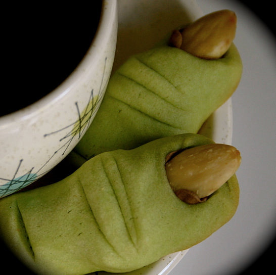 "Impress all the guests at your Halloween party with these creepy (and delicious) ogre finger almond <a href=""http://www.etsy."