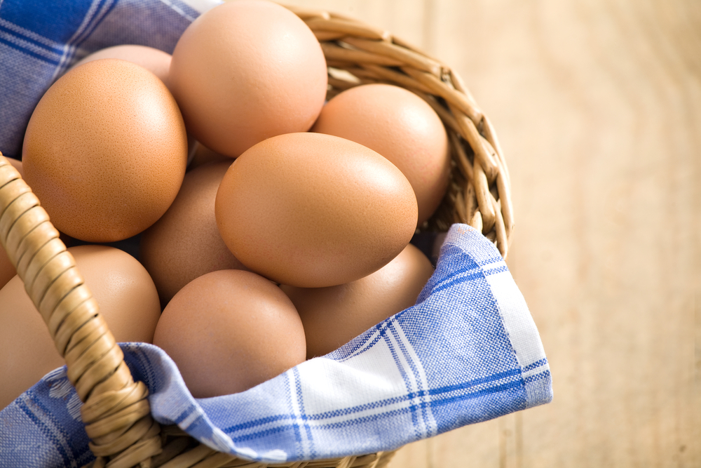 To tell if an egg is fresh, place it in cold, salted water.  If it sinks, it's super-fresh, if it stays suspended, it's aroun