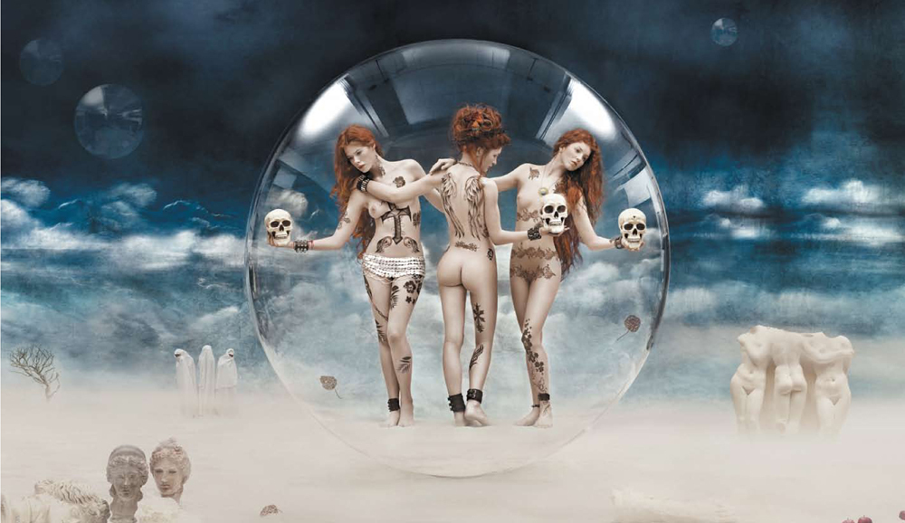 The Three Graces Argentic print mounted on plexiglass Edition of 3 70.9 x 118.1 inches