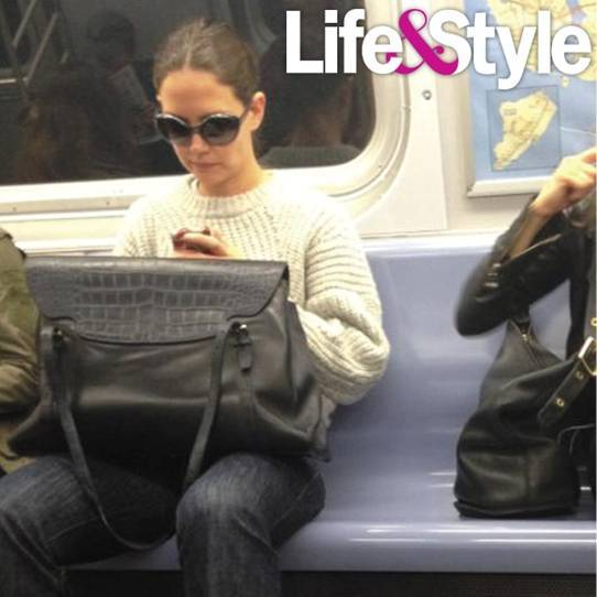 "The former Mrs. Cruise rides the New York subway on Oct. 10, possibly to go to work on her new broadway play, ""Dead Accounts."