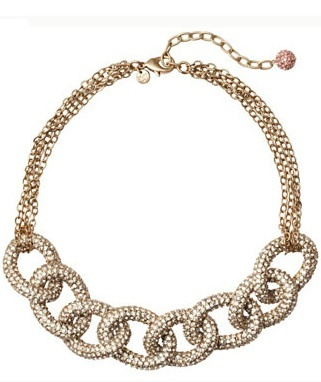 Giuliana Rancic, E! News correspondent and breast cancer survivor, designed this stunning rhinestone-studded necklace. 25% of