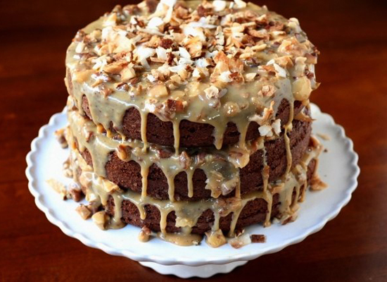 """<strong>Get the <a href=""""http://www.completelydelicious.com/2012/01/chocolate-cola-cake-with-toasted-coconut-and-pecan-icing."""