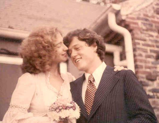 Their wedding day on October 11, 1975