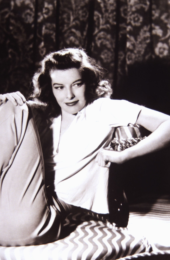 "Katharine Hepburn's rebel chic. ""Skirts are hopeless,"" she once said. ""Anytime I hear a man say he prefers a woman in a skirt"