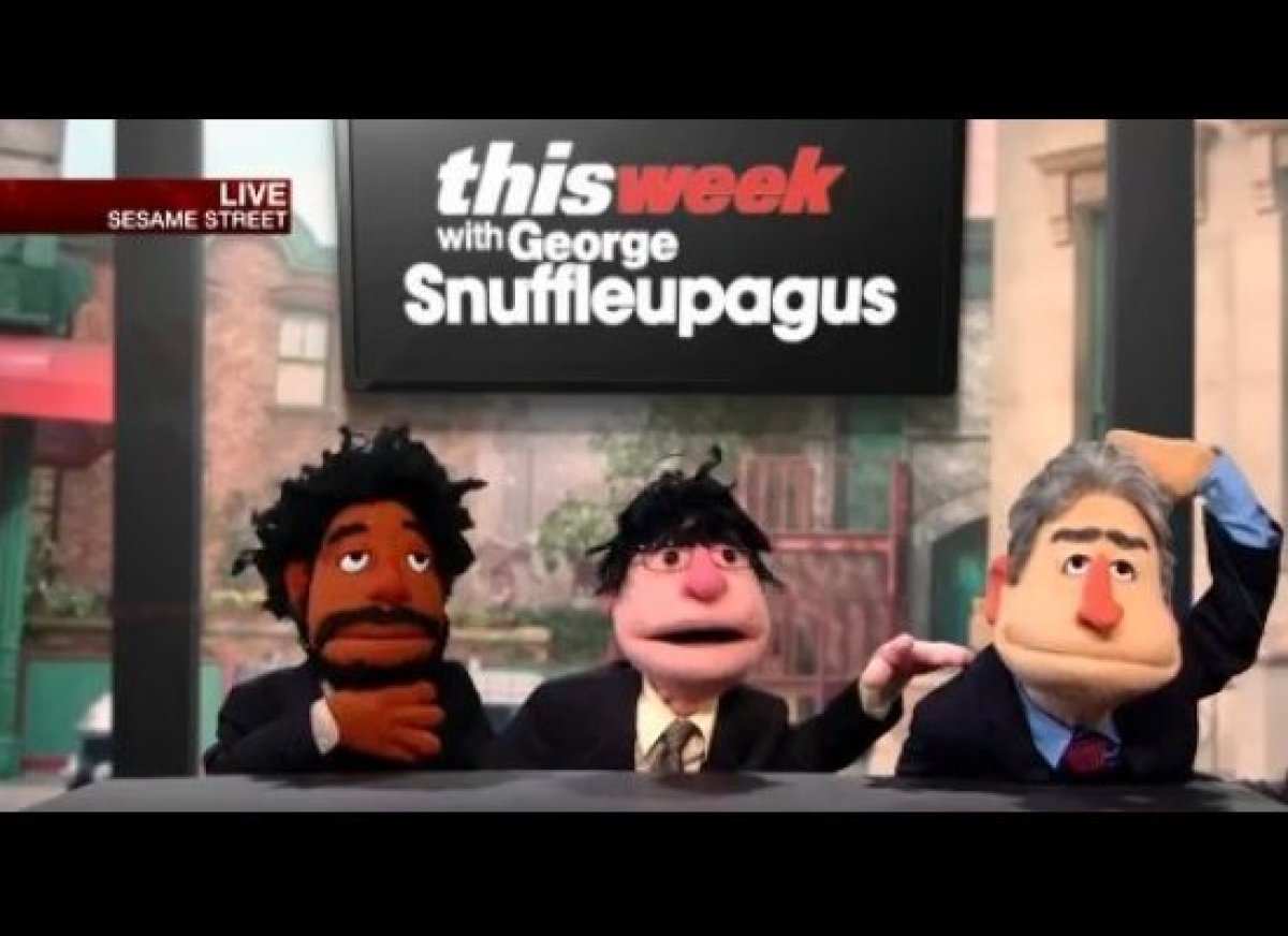 """Puppet versions of Jon Stewart, John Oliver and Wyatt Cenac discuss how Sesame Street can make itself """"more palatable to cons"""