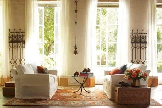 Cole's interiors are eclectic and include amazing flea market finds.