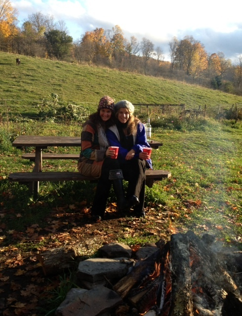 Gals glamping at Stoneycreek Farm .... A Featherdown Days Farm