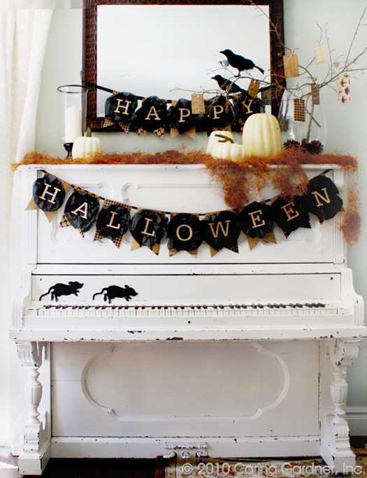 Show your Halloween spirit by hanging this banner where everyone can see, like in your entryway, above a window or over your