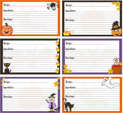 """Keep track of your favorite festive dishes with these colorful cards.  (Photo by <a href=""""http://www.sanqunettidesign.com/cat"""
